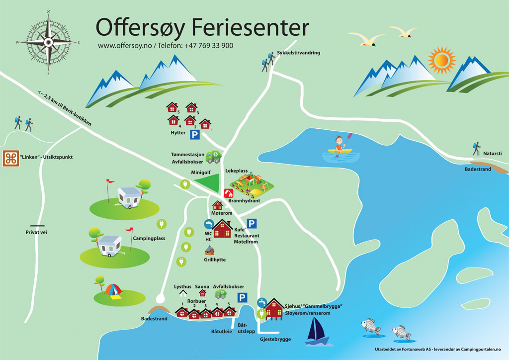 Camping map Offersøy Feriesenter