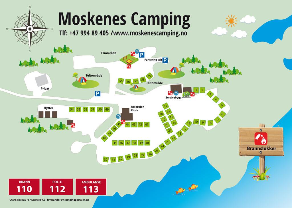 Camping map Moskenes Camping