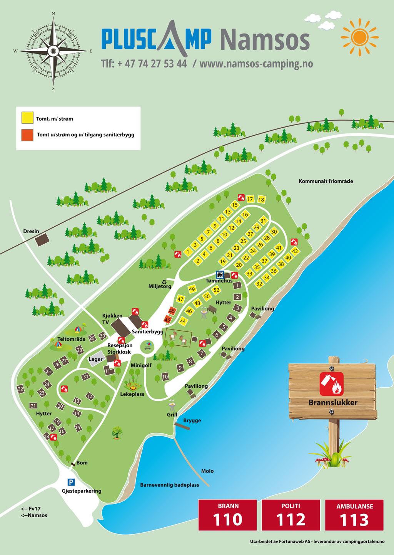 Camping map - Namsos Camping