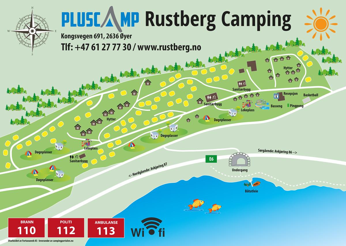 Camping map - Pluscamp Rustberg Camping
