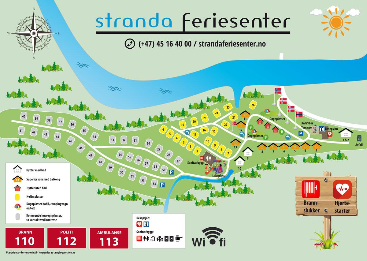 Campingkaart - Stranda Feriesenter