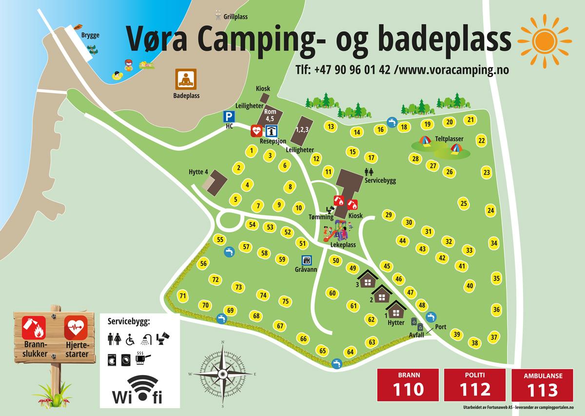 Campingkaart - Vøra Camping