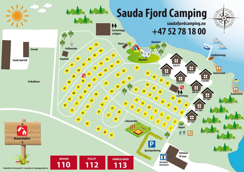 Camping map - Sauda Fjord Camping