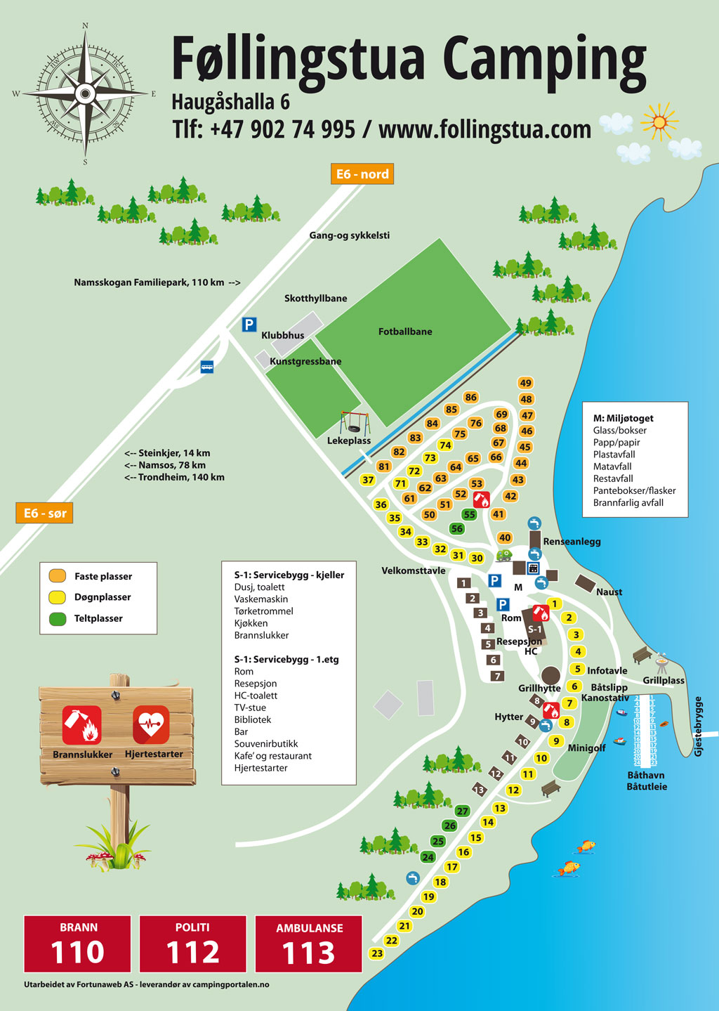 Camping map - Føllingstua Camping