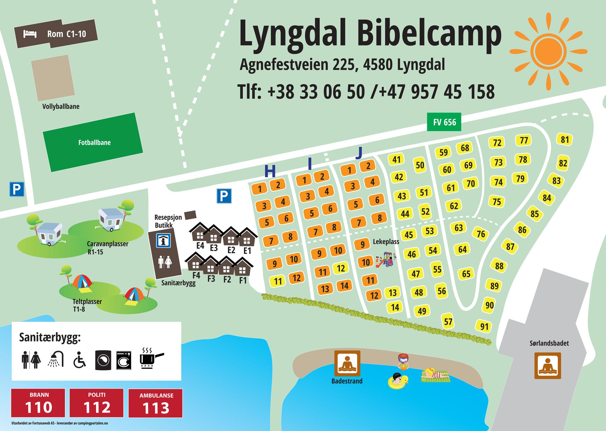 Der Campingplatz © Lyngdal Bibelcamp
