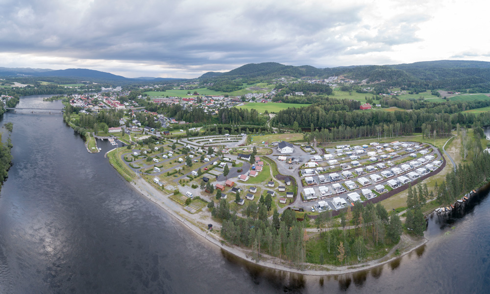 The location close to the river bank is one of the great advantages of Hokksund Camping