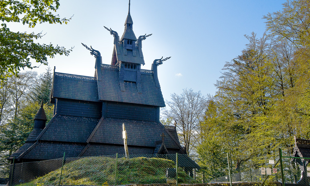 Fantoft Stave Church houses a dramatic history.