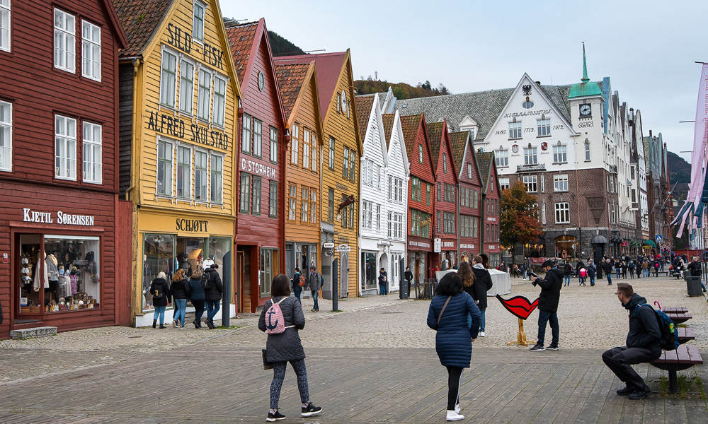 Into the heart of the world heritage, Bryggen in Bergen.