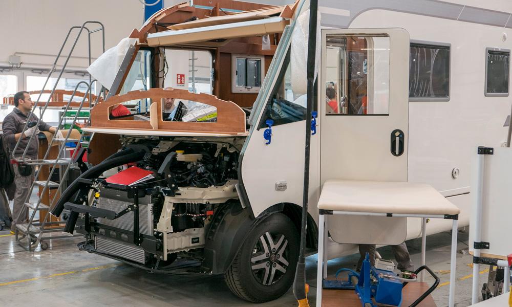 Motorhomefabrikanten zijn onder meer afhankelijk van Fiat, dat in het coronajaar forse productieproblemen had.