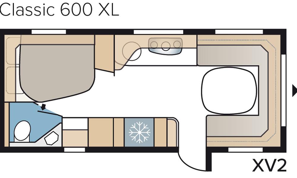 De ulike grunnrissene i Classic-serien byr på en rekke sengeløsninger og forskjellig størrelse på baderommet. Et fellestrekk er god plassutnyttelse og smarte løsninger.