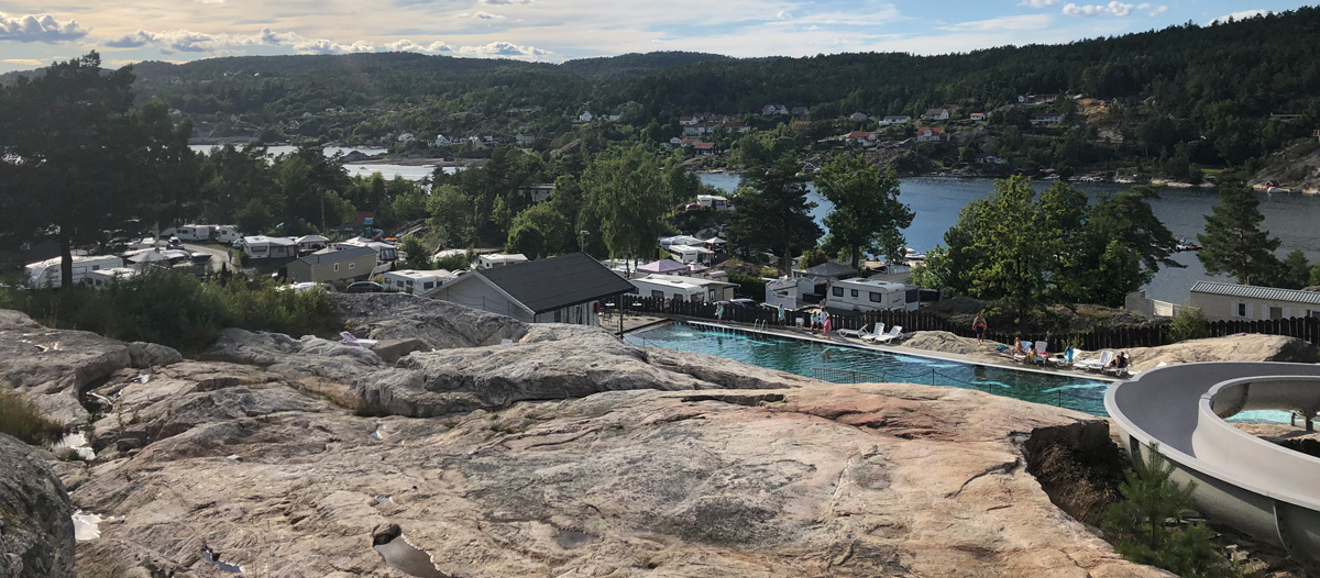 Lovisenberg familicamping is beautifully located in the skerries at Kragerø