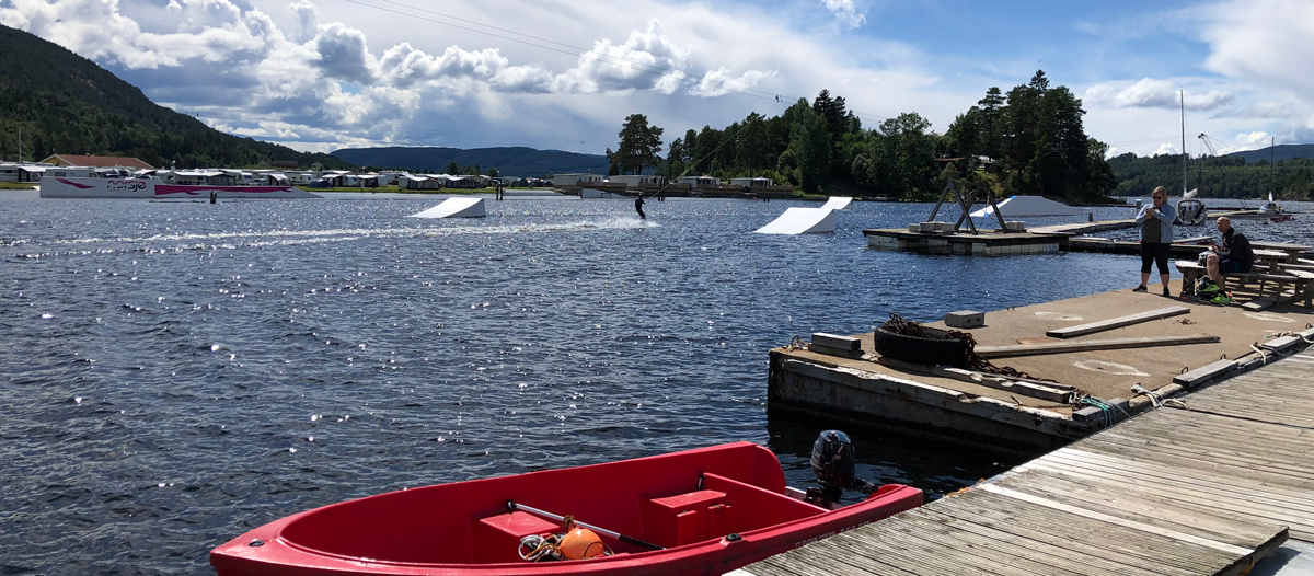 Norsjø Kabelpark - Norway's only full-fledged water ski and wakeboard facility