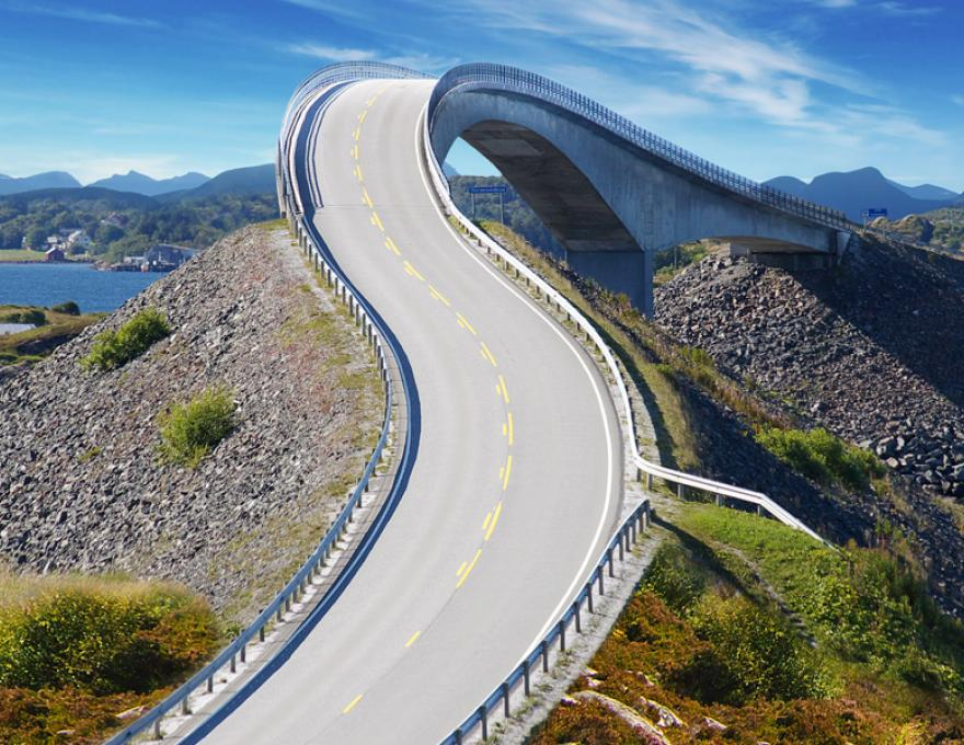 Atlantic Road - wild en prachtig