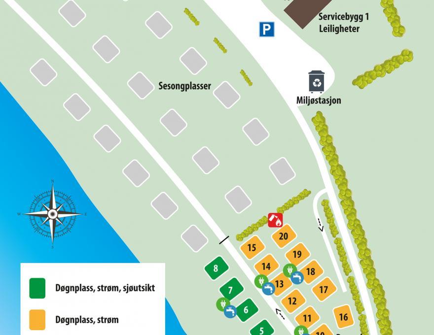 Campingkarte - Pluscamp Hauganfjæra Camping