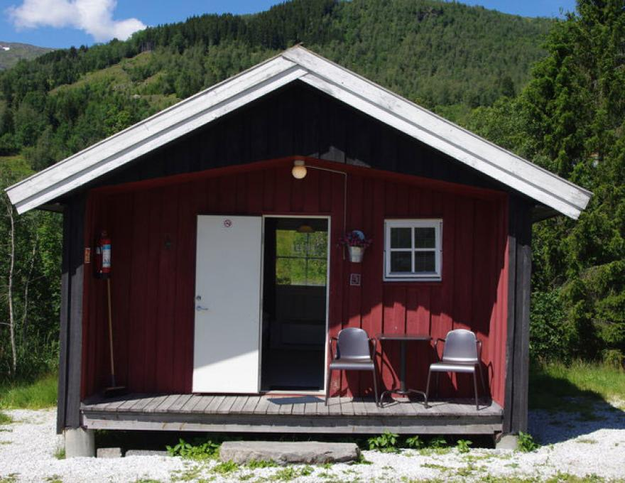 Simple winter insulated cabins © Myrkdalen Camping