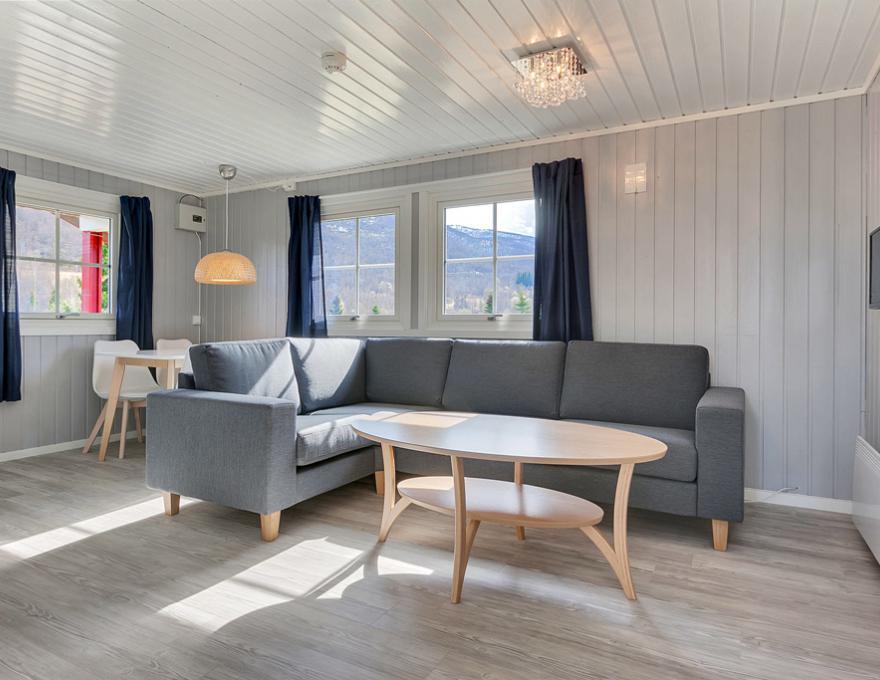 © Pluscamp Ballangen Camping, Cottage 35kvm, 6 Personen