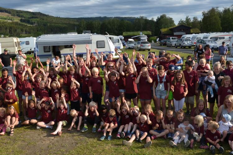 Das Kindercampingfestival 2019 unter der Schirmherrschaft der NBCC-Abteilung Gjøvik und Omegn erhielt eine Rekordbeteiligung