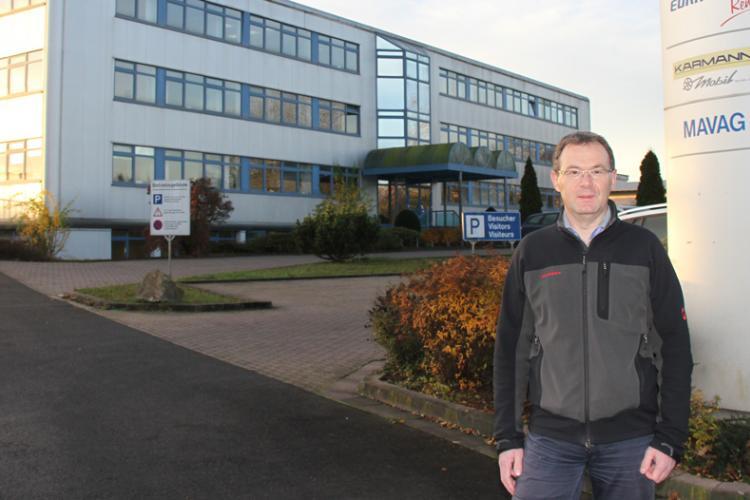 Jens Heinrichs in Eura Mobil welcomes BoCM to factory visits to Sprendlingen